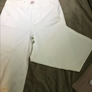 White button sailor pants